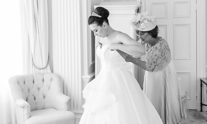 bespoke wedding gown by Caroline Castigliano