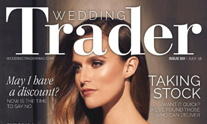 Wedding Trader Cover designer wedding gowns by Caroline Castigliano