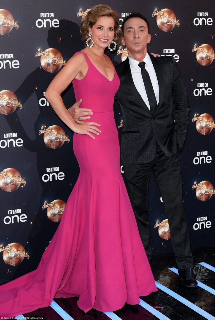 Darcey Bussell Strictly Come Dancing designer evening dress by Caroline Castigliano