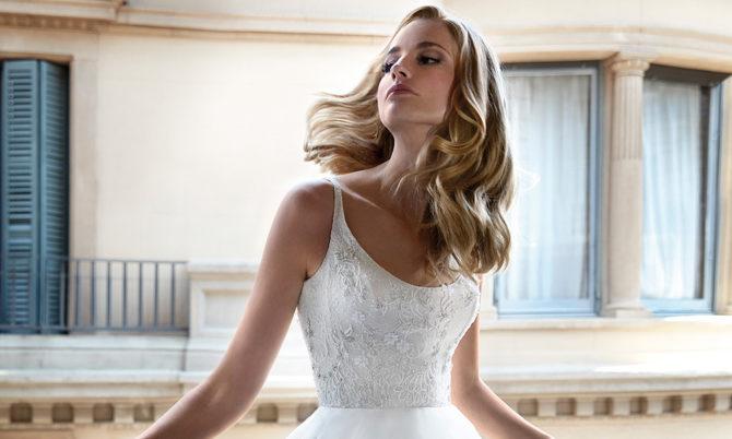Chrissy luxury wedding dresses by Caroline Castigliano