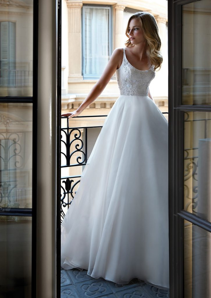 Chrissy luxury wedding dresses by Caroline Castigliano