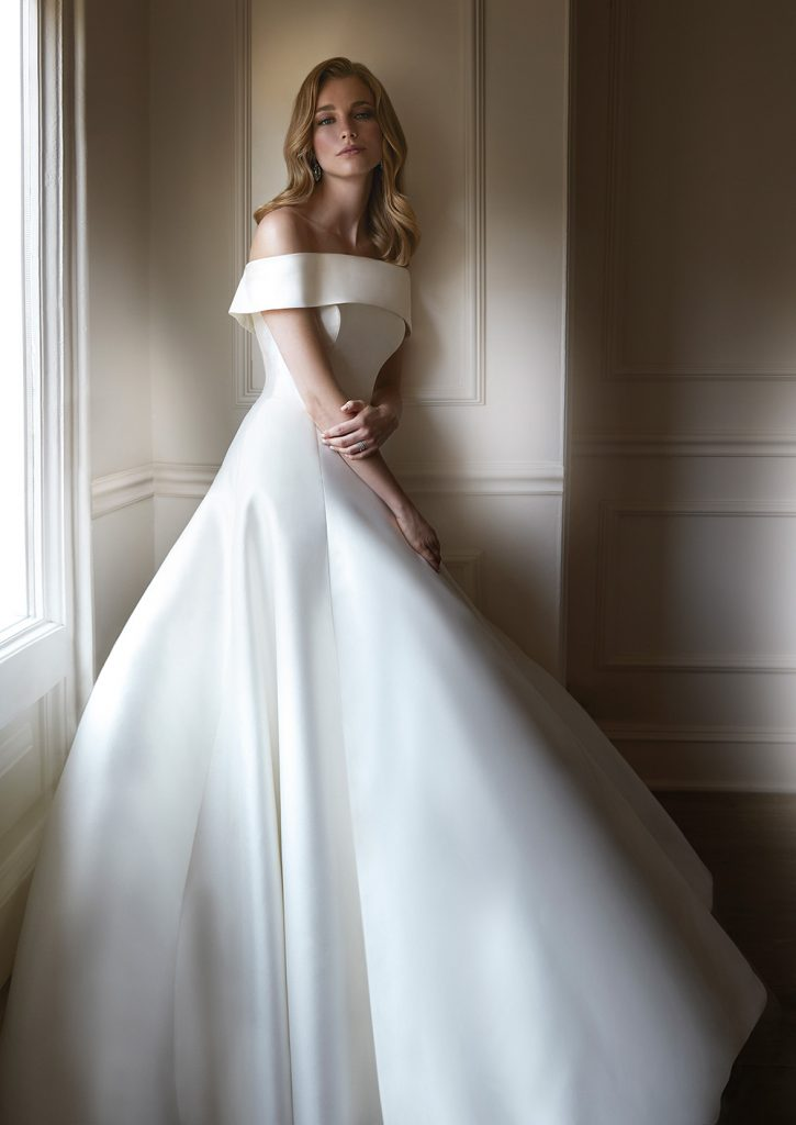 Claret luxury wedding dresses by Caroline Castigliano