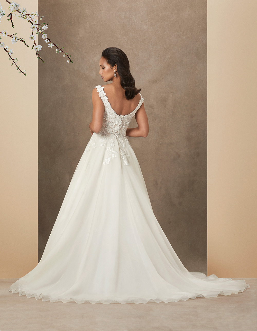 Aura luxury wedding gown by Caroline Castigliano