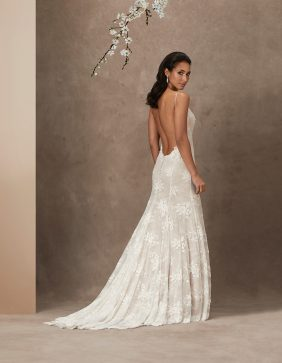 Blush luxury wedding gowns by Caroline Castigliano
