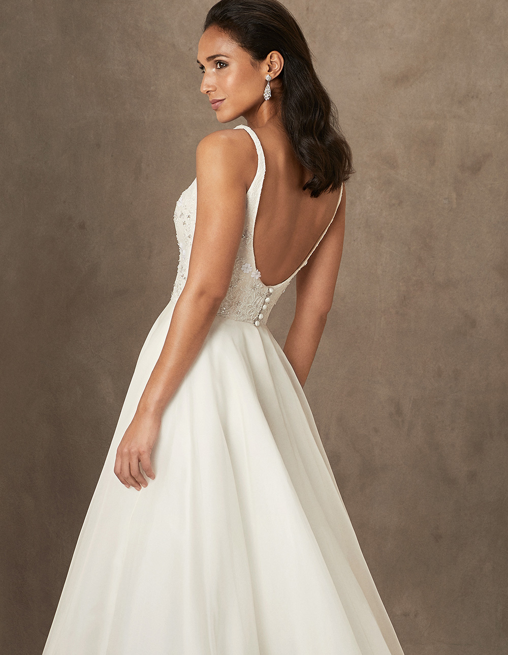 Chrissy luxury wedding gowns by Caroline Castigliano