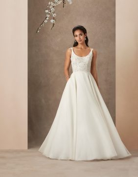 Chrissy luxury wedding gowns by Caroline Castigliano