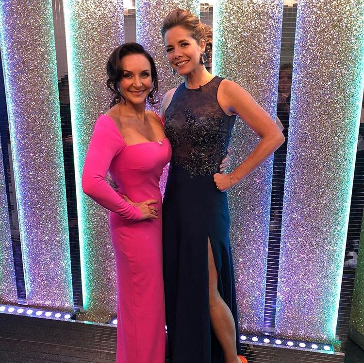 Darcey Bussell in bespoke Caroline Castigliano eveningwear