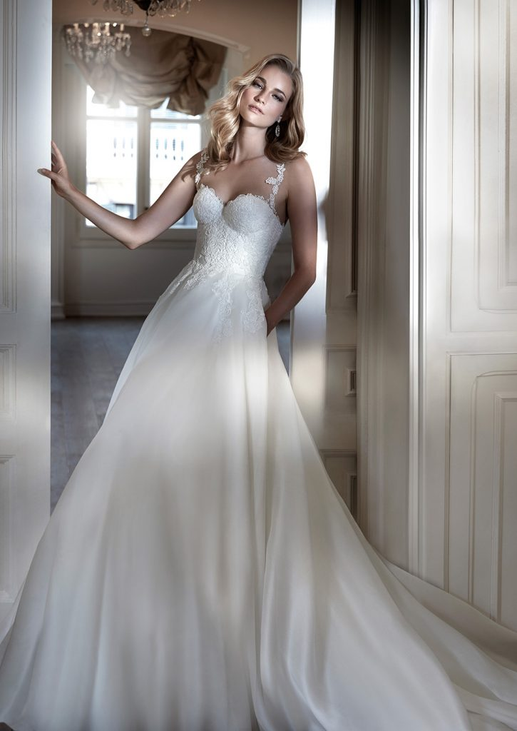 Santa Barbara luxury wedding dresses by Caroline Castigliano