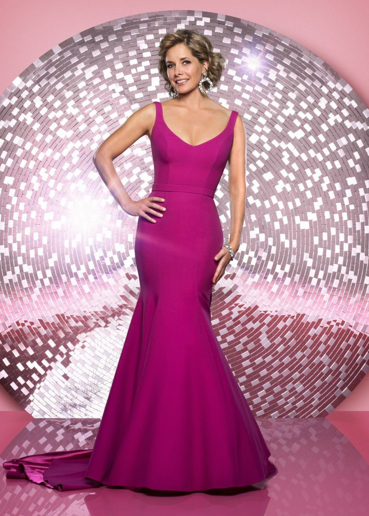 Darcey Bussell exclusive evening gown by Caroline Castigliano