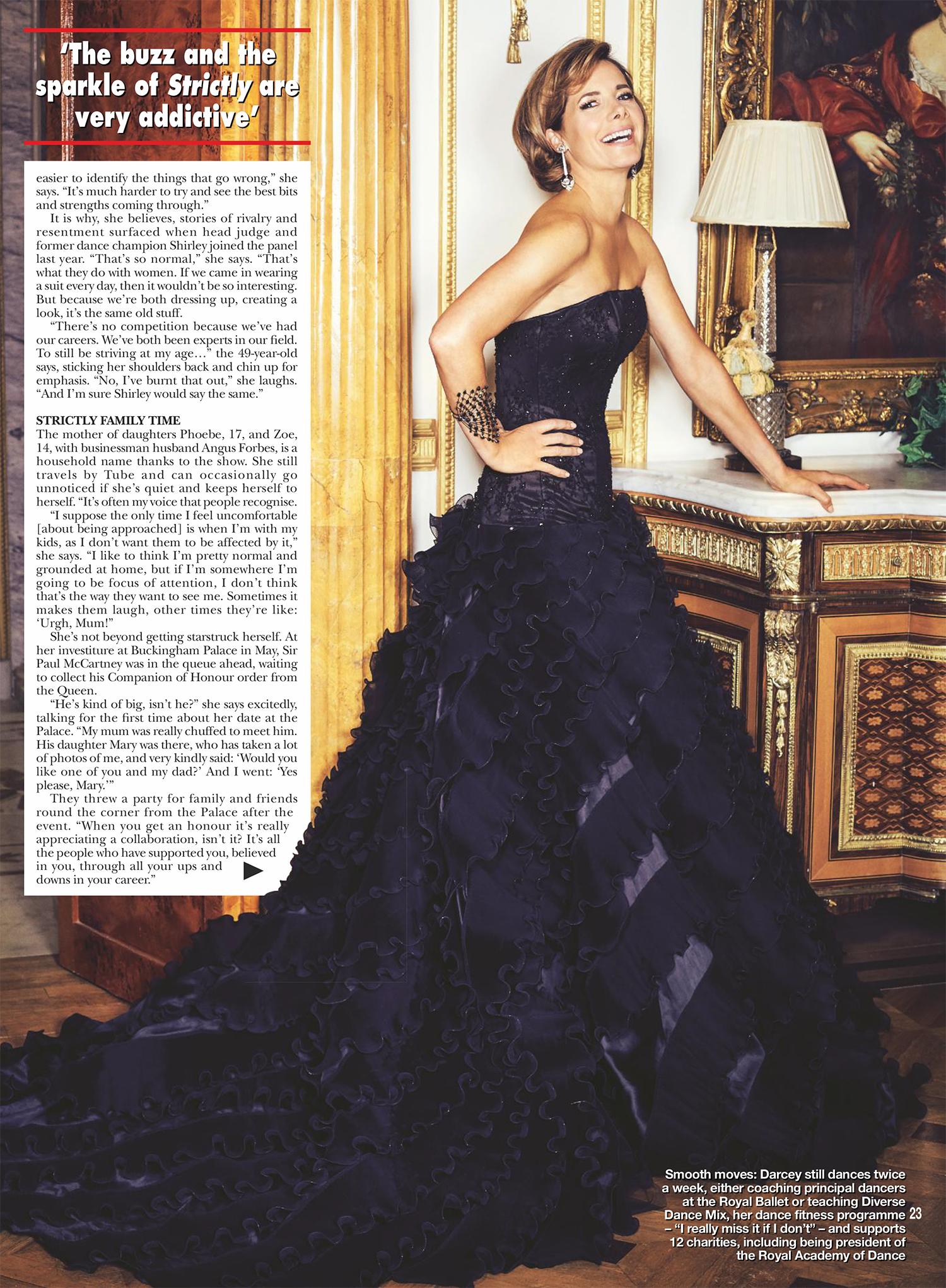 Darcey Bussell designer evening gown by Caroline Castigliano