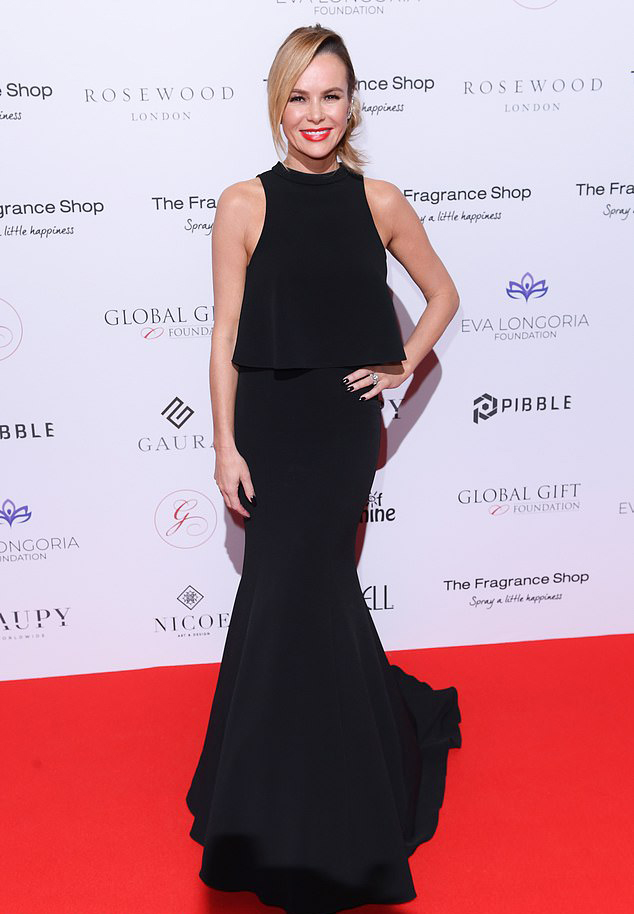 Amanda Holden bespoke eveningwear by Caroline Castigliano