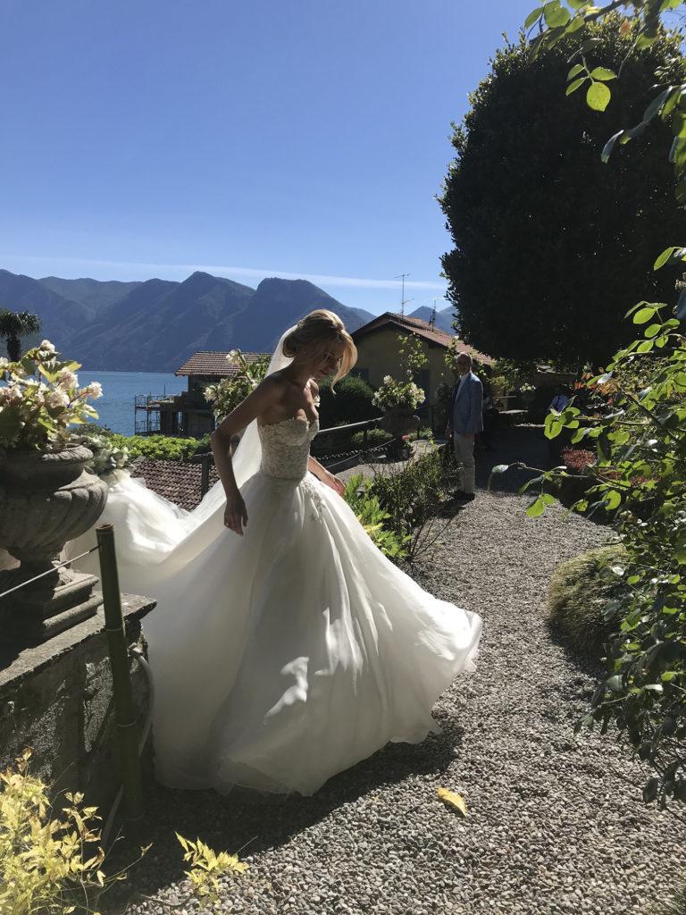 Hannah Lake Como Couture wedding dresses by Caroline Castigliano