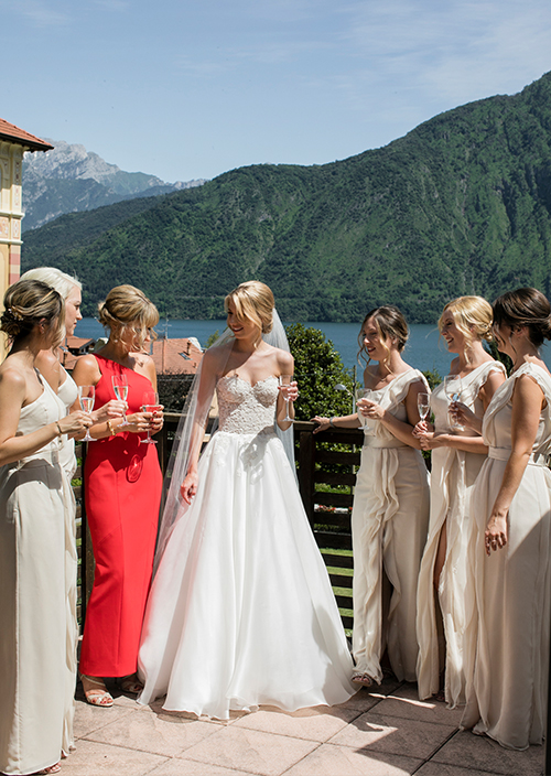 Hannah Lake Como Couture wedding dresses by Caroline Castigliano