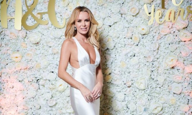 Amanda Holden luxury wedding dresses by Caroline Castigliano