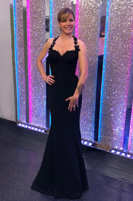 Darcey Bussell bespoke evening gown by Caroline Castigliano