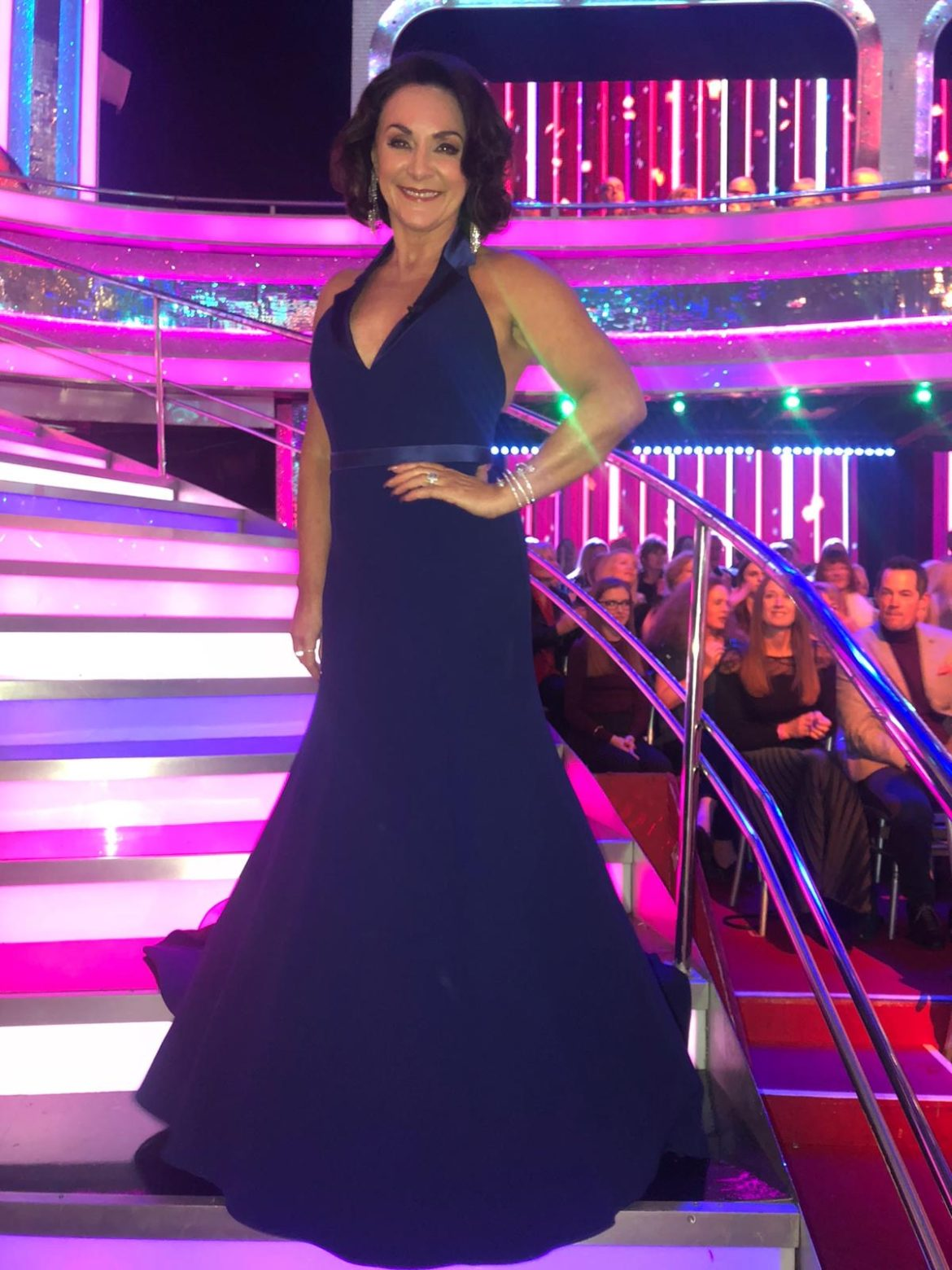 Shirley Ballas bespoke Caroline Castigliano eveningwear