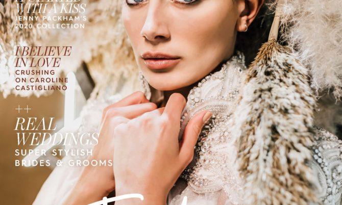 Unveiled Magazine designer wedding dress by Caroline Castigliano